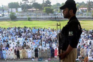 Pakistan marks sombre Eid after tanker blaze, terror attacks