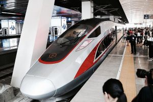 China's fastest bullet train makes debut