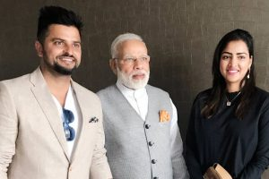 Suresh Raina titles PM Modi 'the man with golden vision'