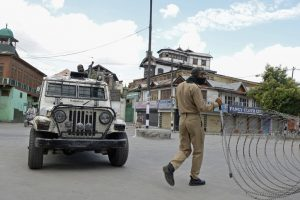 People defy restrictions in J-K, attend funeral of slain militant