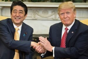 Abe, Trump discuss North Korean missile launch
