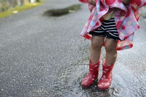 Fashion forward with fancy footwears in the rain