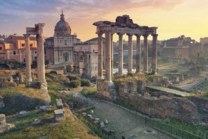 Seawater strengthened ancient Roman structures