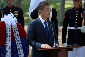 South Korea's Moon leaves for G20 summit in Germany