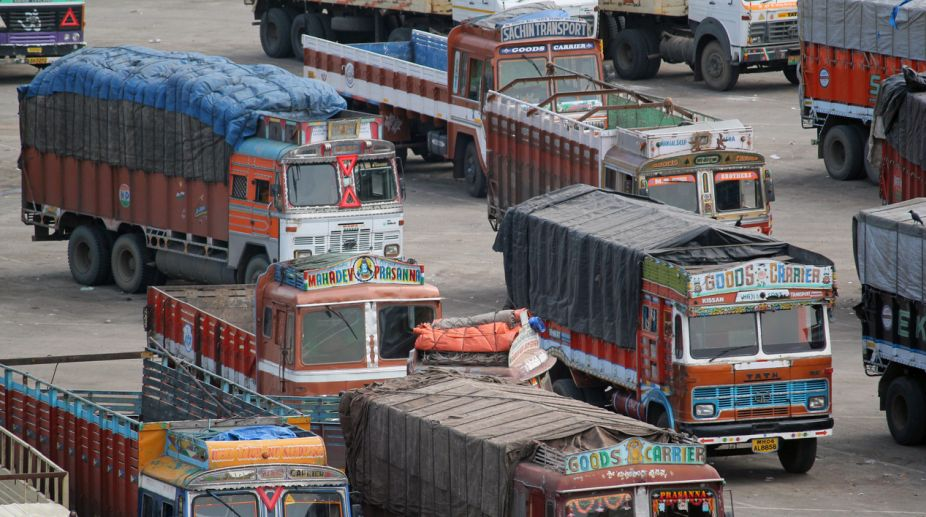 Truckers set truck on fire in Punjab town to oppose ban on unions - The  Statesman