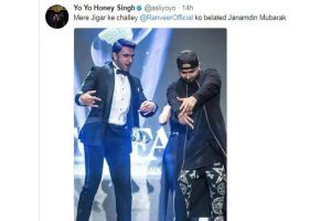 Yo Yo Honey Singh has a unique nickname for Ranveer Singh!
