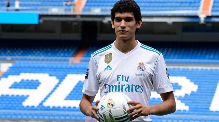Real Madrid presents defender Jesus Vallejo as first team player ...
