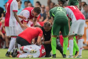Ajax's Abdelhak Nouri collapses during football friendly