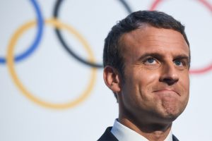 Emmanuel Macron hails Olympic values in push for Paris 2024