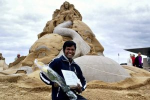 Sudarshan to represent India in Sand Sculpting Championship