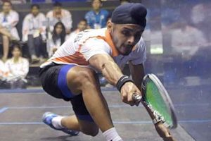 Harinder Pal Sandhu storms into last eight of Victorian Open squash
