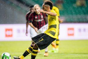 2017 ICC: Aubameyang strikes lead Borussia Dortmund past AC Milan