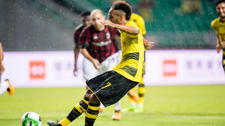 2017 ICC: Aubameyang strikes lead Borussia Dortmund past AC Milan ...