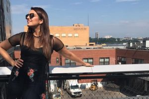Huma Qureshi in Chennai  for shoot with Rajnikanth