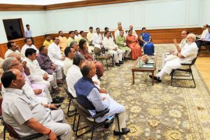 Shun red beacon culture: Modi tells BJP MPs
