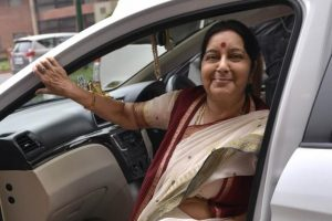 Sushma Swaraj to hold talks with Iraqi counterpart on abducted Indians