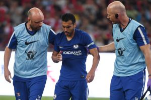 Chelsea winger Pedro returns to London after suffering concussion
