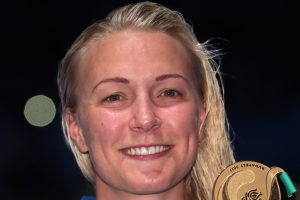 Sarah Sjostrom wins third straight 100m butterfly gold at World Championships