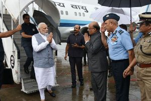 PM Modi reviews flood situation in Gujarat