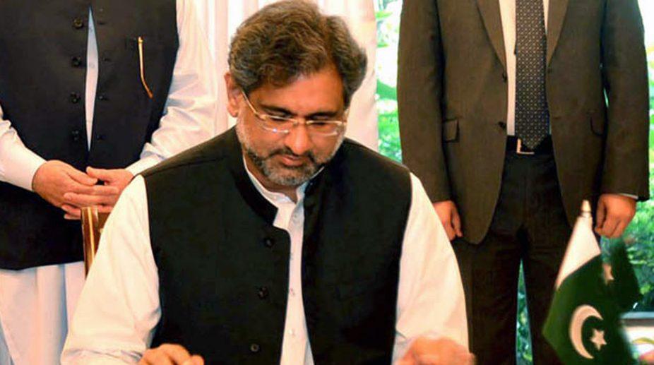 Pakistan Prime Minister Shahid Khaqan Abbasi (PHOTO: IANS)