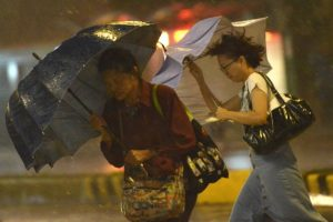 Powerful typhoon makes landfall in Japan