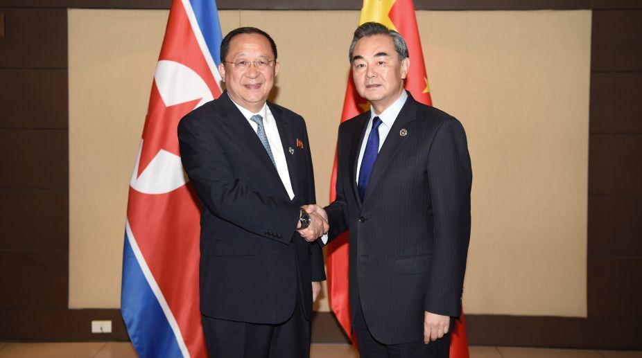Chinese Foreign Minister, Wang Yi, North Korea, Ri Yong-ho