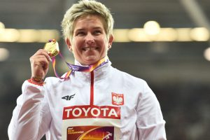 Poland's Anita Wlodarczyk's hat-trick of hammer throw world titles