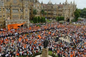 Mammoth Maratha 'mook morcha' engulfs Mumbai