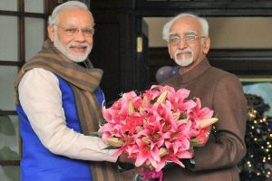 Modi thanks Ansari for his 'distinguished years in public service'