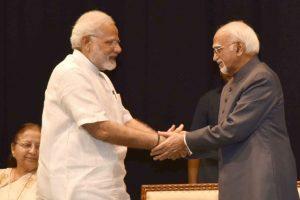Modi says Ansari free to pursue core thinking from now on