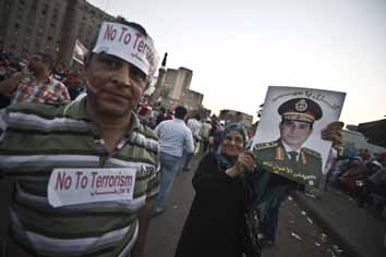 Egyptians support army-backed revolts