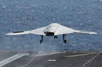 US drone lands on carrier deck in historic flight