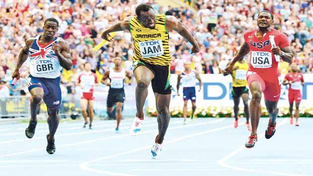 Bolt ends on a high