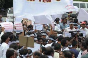 Andhra Employees firm on strike