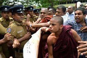 UN envoy on Lanka visit; monks agitate
