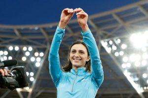 Russia's Lasitskene retains women's high jump world title