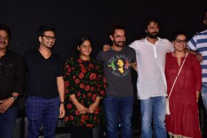 Aamir Khan introduces Meghna Mishra at 'Main Kaun Hoon' song launch event