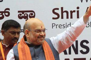 Amit Shah vows to free Karnataka from Congress