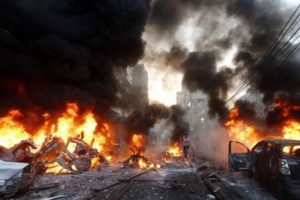 Boko Haram bombers kill 20 at camp in northeast Nigeria