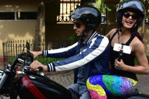 Pics: Sidharth Malhotra, Jacqueline Fernandez out on a Monsoon bike ride!