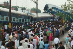 Railway safety official inspects Utkal Express accident site