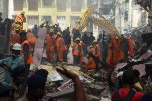 Part of slab of MHADA building collapses, 4 rescued
