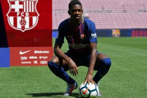 Ousmane Dembele signs 5-year contract with Barcelona