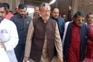 Suspected RJD supporters attack Sushil Modi's car