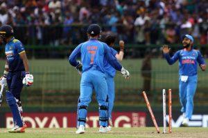 Dhoni, Bhuvi guide India to three wicket victory over Sri Lanka