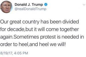 Twitter trolls Trump on 'heel' gaffe