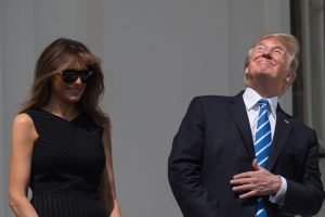 Trump stares at total solar eclipse without eye protection, trolled