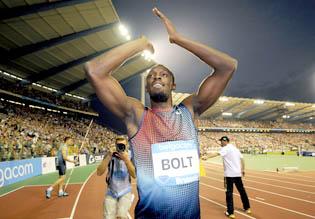 Bolt ends season on a high