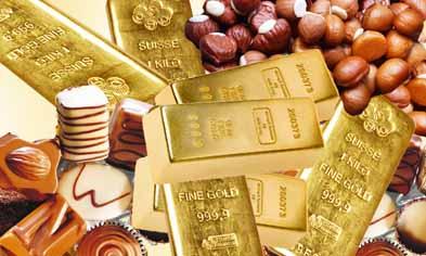 Swiss chocolates & gold