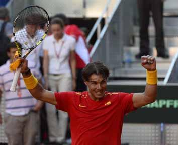 Nadal powers Spain to 2-0 lead